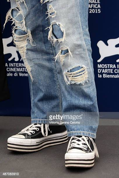 Gianna Nannini show detail attends a photocall for 'Janis' during the 72nd Venice Film Festival at on September 6 2015 in Venice Italy