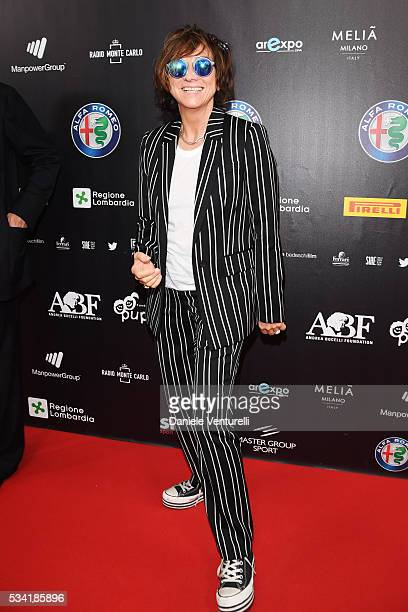 Gianna Nannini walks the red carpet of Bocelli and Zanetti Night on May 25 2016 in Rho Italy