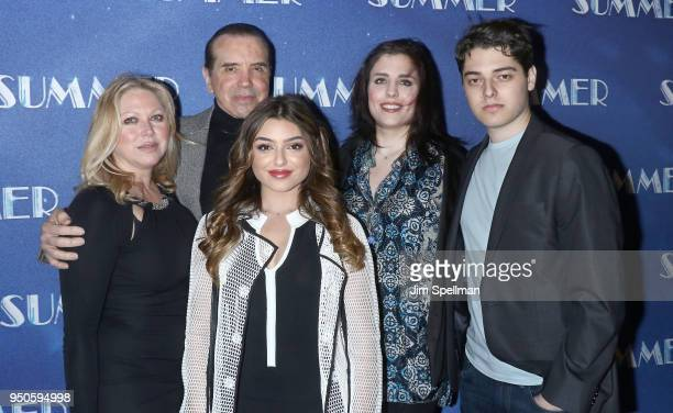 Gianna Ranaudo actor Chazz Palminteri and family attend the Summer The Donna Summer Musical Broadway opening night at LuntFontanne Theatre on April...