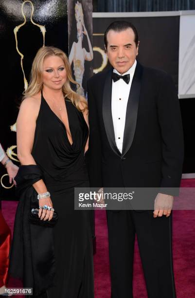 Gianna Ranaudo and actor Chazz Palminteri arrive at the Oscars held at Hollywood Highland Center on February 24 2013 in Hollywood California