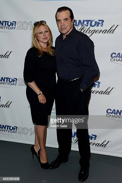 Gianna Ranaudo and Chazz Palminteri attend the Annual Charity Day Hosted by Cantor Fitzgerald and BGC at Cantor Fitzgerald on September 11 2014 in...