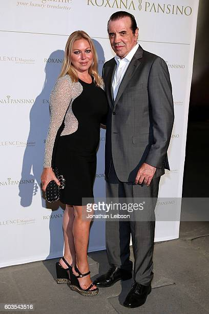 Gianna Ranaudo and Chazz Palminteri attend the closing night reception at Salone del Tronoin Palazzo Corsini as part of Celebrity Fight Night Italy...