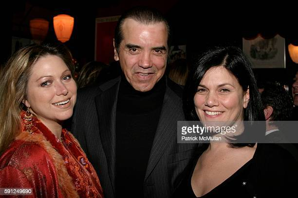 Gianna Ranaudo Chazz Palminteri and Linda Fiorentino attend Entertainment Weekly Hosts the 11th Annual Academy Awards Viewing Party at Elaine's at...