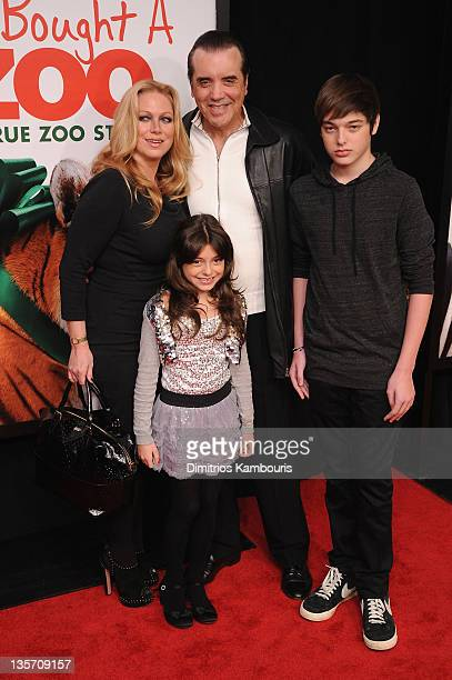 Gianna Ranaudo Chazz Palminteri Gabriella Rose and Dante Lorenzo attend the We Bought a Zoo premiere at Ziegfeld Theater on December 12 2011 in New...