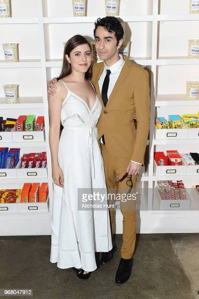 Gianna Reisen and Alex Wolff attend the Hereditary New York screening after party at Metrograph on June 5 2018 in New York City