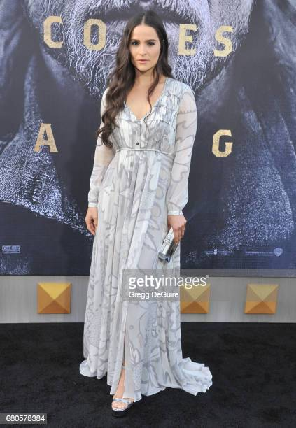 Gianna Simone arrives at the premiere of Warner Bros Pictures' King Arthur Legend Of The Sword at TCL Chinese Theatre on May 8 2017 in Hollywood...