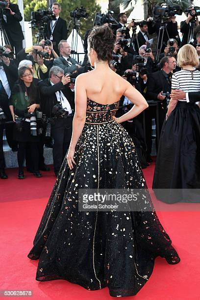 Gianna Simone attends the 'Cafe Society' premiere and the Opening Night Gala during the 69th annual Cannes Film Festival at the Palais des Festivals...
