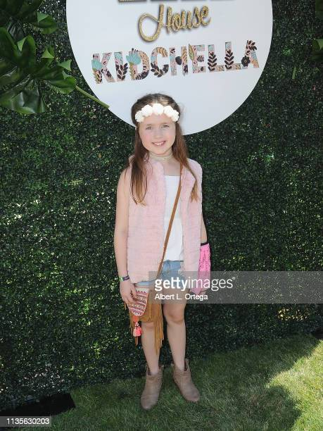 Gianna Yeager arrives for Clubhouse Kidchella held at Pershing Square on April 6 2019 in Los Angeles California