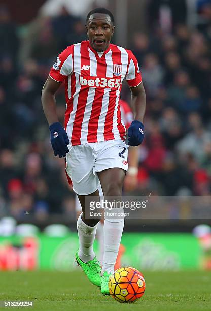 Giannelli Imbula of Stoke City during the Barclays Premier League match between Stoke City and Aston Villa at the Britannia Stadium on February 27...