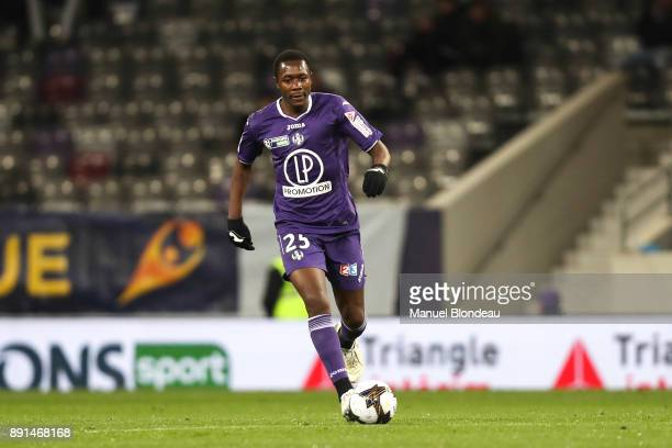 Giannelli Imbula of Toulouse during the french League Cup match Round of 16 between Toulouse and Bordeaux on December 12 2017 in Toulouse France