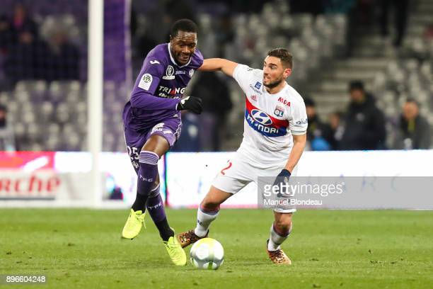Giannelli Imbula of Toulouse during the Ligue 1 match between Toulouse and Olympique Lyonnais at Stadium Municipal on December 20 2017 in Toulouse