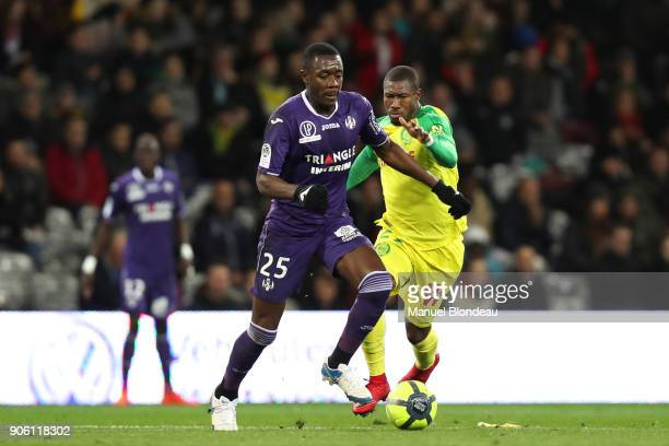 Giannelli Imbula of Toulouse during the Ligue 1 match between Toulouse and Nantes at Stadium Municipal on January 17 2018 in Toulouse