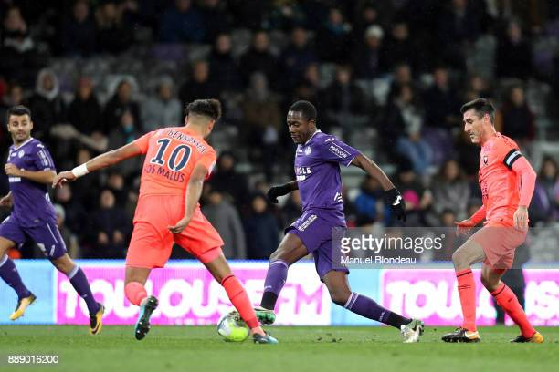 Giannelli Imbula of Toulouse during the Ligue 1 match between Toulouse and SM Caen at Stadium Municipal on December 9 2017 in Toulouse