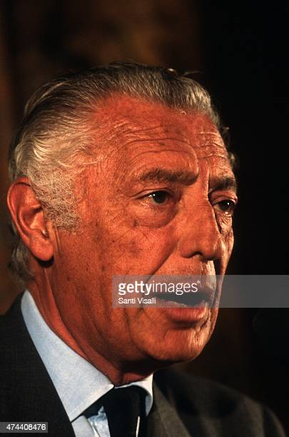 Gianni Agnelli during an interview on June 5 1979 in New York New York