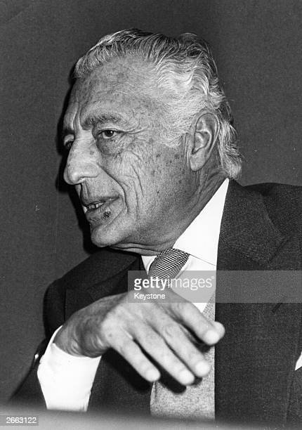 Gianni Agnelli Italian president of the Fiat motor company which was founded by his grandfather