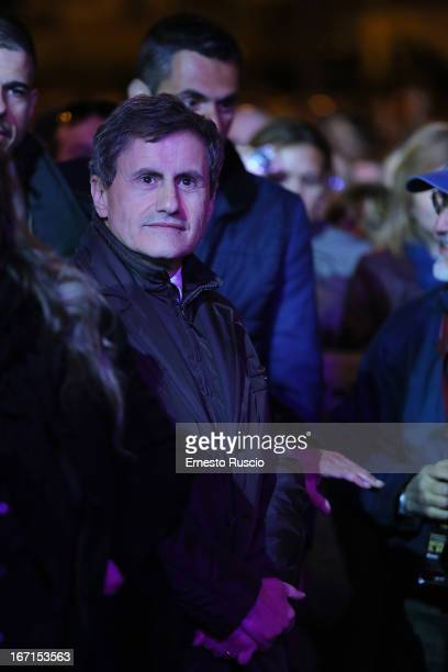 Gianni Alemanno attends the Franco Califano Tribute Concert at Piazza Del Popolo on April 21 2013 in Rome Italy