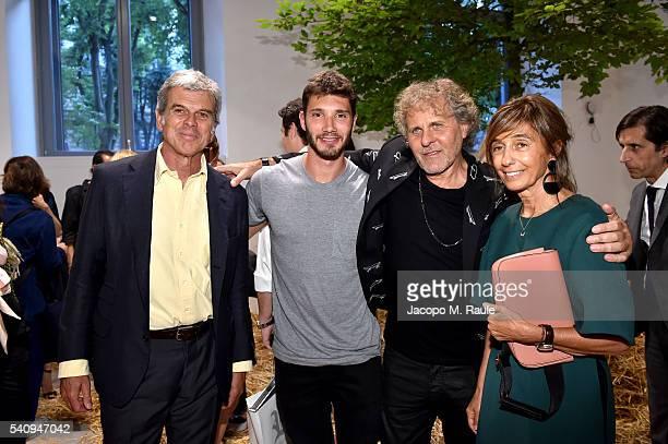 Gianni Catiglioni, Stefano de Martino, Renzo Rosso and Consuelo Castiglioni attend Renzo Rosso And OTB Launch 'Radical Renaissance 55+5' Book on June...