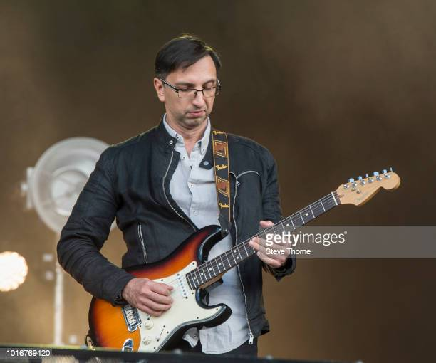 Gianni Chiarello of Cregan Co performs at Fairport Convention's Cropredy Convention at Cropredy on August 10 2018 in Banbury England