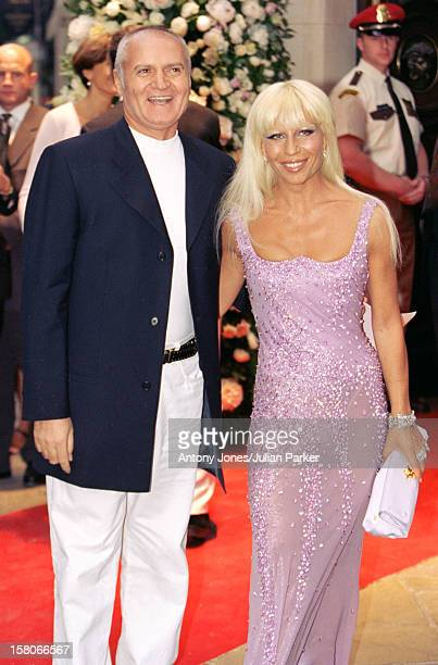 Gianni Donatella Versace Attend A Book Launch Party At His Store In London'S Bond Street