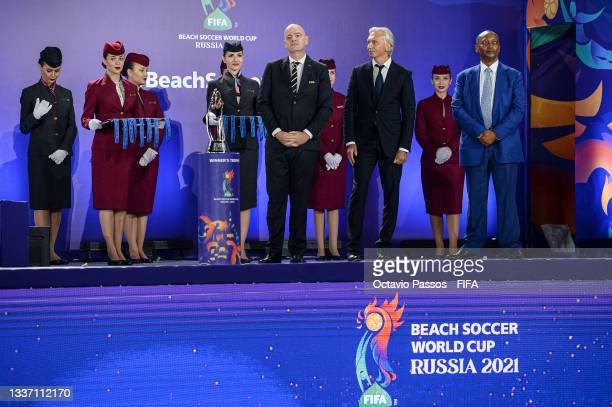 Gianni Infantino, President of FIFA and Alexander Walerjewitsch Djukow, president of RFU and Patrice Motsepe, President of the Confederation of...