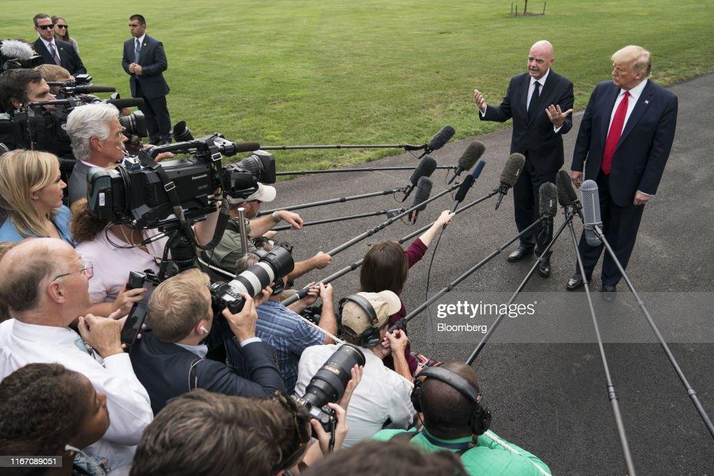 President Trump Departs White House For North Carolina : News Photo