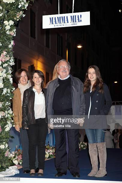 Gianni Mina and family attend 'Mamma Mia' Rome Launch at Teatro Brancaccio on October 13 2011 in Rome Italy