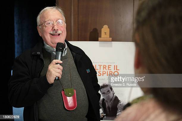 Gianni Mina attends the Libro Troisi press conference during the 6th International Rome Film Festival at Casa Del Cinema on October 27 2011 in Rome...