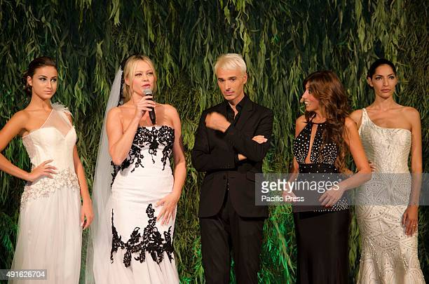 Gianni Molaro Anna Falchi and Emauela Titocchia at ti sposo exhibition 2015