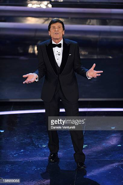 Gianni Morandi attends the opening night of the 62th Sanremo Song Festival at the Ariston Theatre on February 14, 2012 in San Remo, Italy.