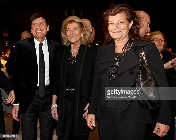 Gianni Morandi Giovanna Gentile Ferragamo Fulvia Ferragamo attend the Salvatore Ferragamo fashion show as part of Milan Fashion Week Womenswear...