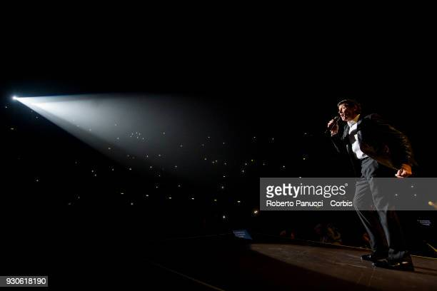 Gianni Morandi perform on stage on March 10 2018 in Rome Italy