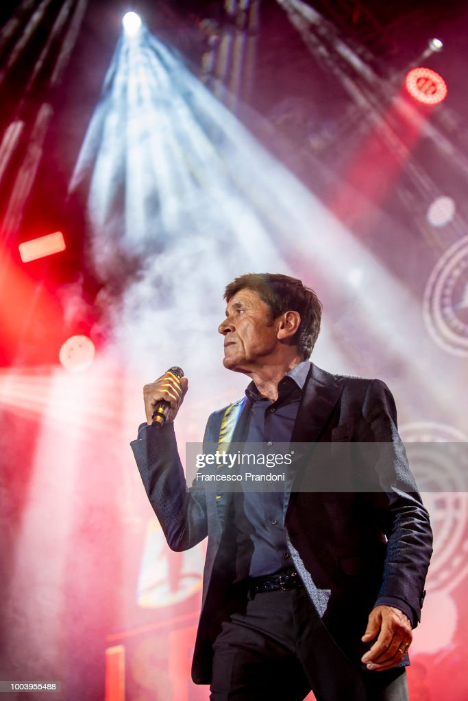 Gianni Morandi Performs At Lucca Summer Festival