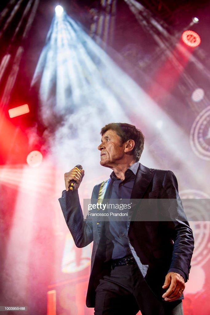 Gianni Morandi Performs At Lucca Summer Festival