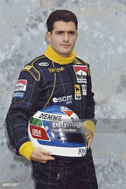 Gianni Morbidelli of Italy driver of the Minardi Team Minardi M191 Ferrari 037 V12 poses for a portrait during pre season testing on 1 February 1991...