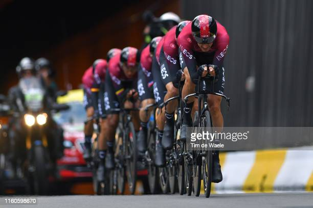 Gianni Moscon of Italy and Team INEOS / during the 106th Tour de France 2019 Stage 2 a 276 Team Time Trial stage from Bruxelles Palais Royal to...