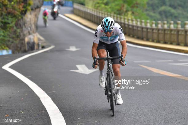 Gianni Moscon of Italy and Team Sky / during the 2nd Tour of Guangxi 2018 Stage 4 a 1522km stage from Nanning to Mashan NonglaScenic Area 443m / Gree...