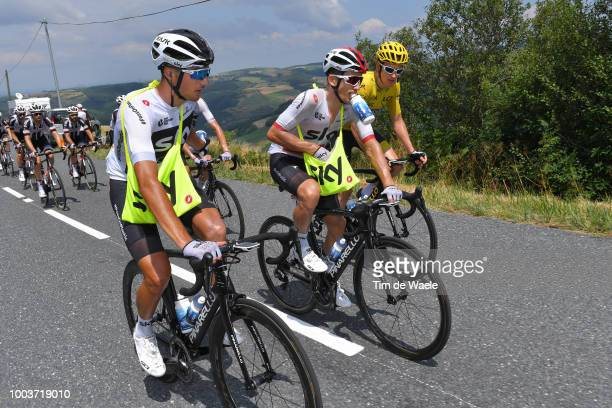 a70c0fe08 Gianni Moscon of Italy and Team Sky   Michal Kwiatkowski of Poland and Team  Sky