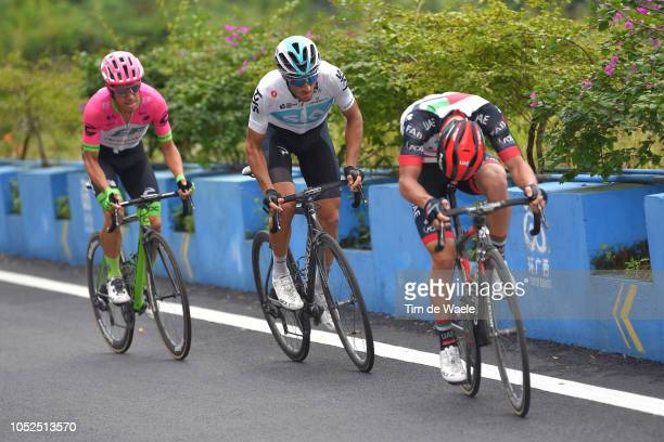 Gianni Moscon of Italy and Team Sky / Rigoberto Urán of Colombia and Team Education FirstDrapac P/B Cannondale / during the 2nd Tour of Guangxi 2018...