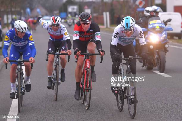 Gianni Moscon of Italy and Team Sky / Stefan Kung of Switzerland and Team BMC Racing Team / Zdenek Stybar of Czech Republic and Team QuickStep Floors...