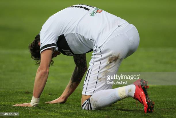 Gianni Munari of Parma Calcio 1913 reacts after misses a chance of goal during the serie B match between Parma Calcio and AS Cittadella at Stadio...
