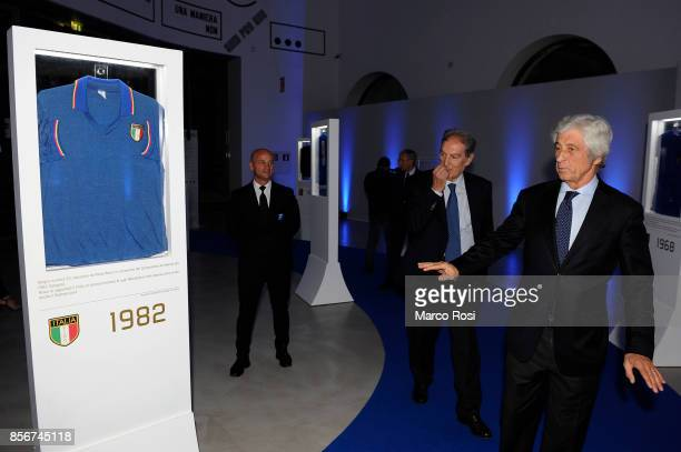 Gianni Rivera former player AC Milan attend the new Italian Football Federation logo unveiling at Maxxi Museum on October 2 2017 in Rome Italy