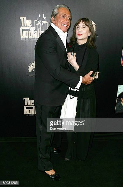 Gianni Russo and Talia Shire attend the Godfather Symphony Premiere and DVD release at the State Theatre on July 22 2008 in Sydney Australia