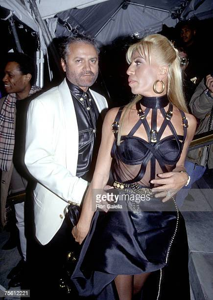 Gianni Versace and Donatella Versace