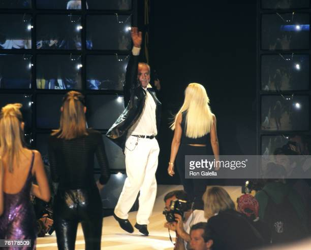 Gianni Versace and Donatella Versace