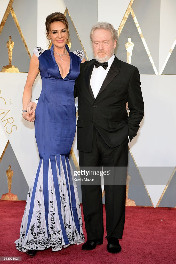 Giannina Facio (L) and director Ridley Scott attend the 88th Annual Academy Awards at Hollywood & Highland Center on February 28, 2016 in Hollywood, California.