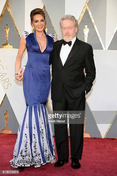 Giannina Facio and director Ridley Scott attend the 88th Annual Academy Awards at Hollywood & Highland Center on February 28, 2016 in Hollywood,...
