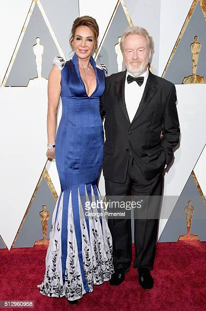 Giannina Facio and Producer Ridley Scott attend the 88th Annual Academy Awards at Hollywood & Highland Center on February 28, 2016 in Hollywood,...