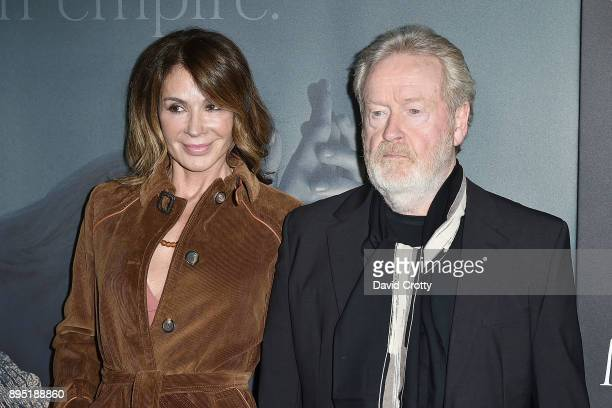 """Giannina Facio and Ridley Scott attend the Premiere Of Sony Pictures Entertainment's """"All The Money In The World"""" - Arrivals at Samuel Goldwyn..."""