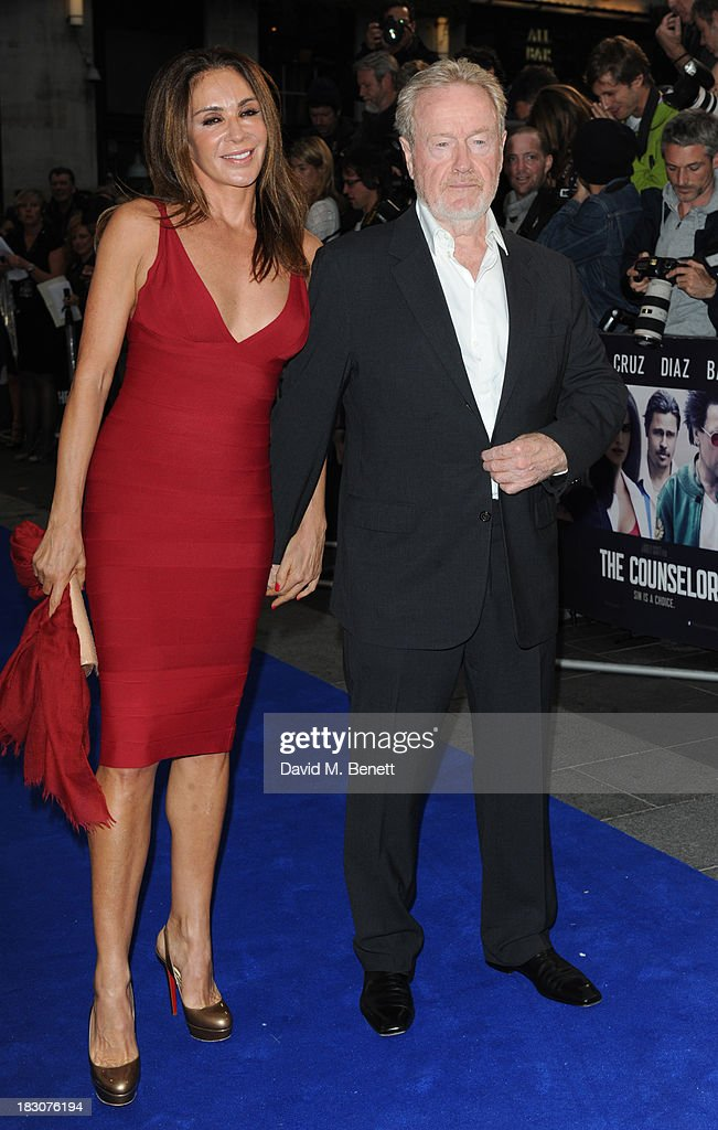 Giannina Facio and Ridley Scott attends a special screening of 'The Counselor' at the Odeon West End on October 3, 2013 in London, England.