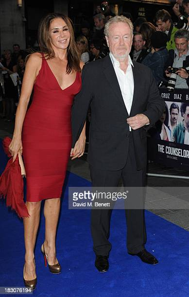 """Giannina Facio and Ridley Scott attends a special screening of """"The Counselor"""" at the Odeon West End on October 3, 2013 in London, England."""
